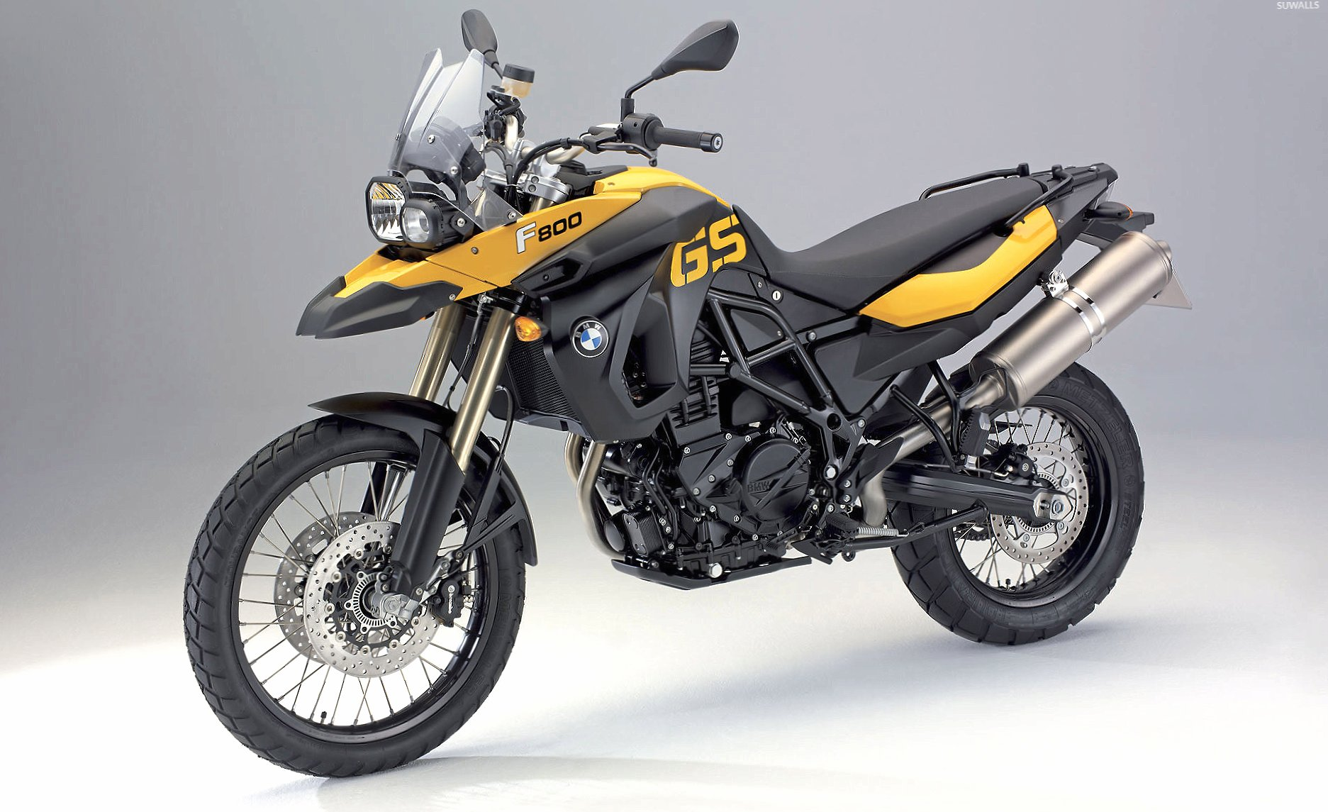 Yellow BMW F800GS front side view wallpapers HD quality