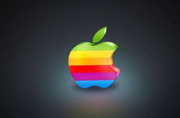 Colour striped apple wallpapers hd quality