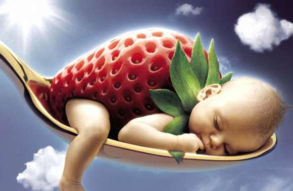 funny baby strawberry