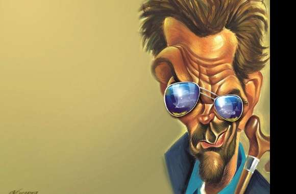 Funny dr house gregory caricature