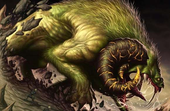 Green huge creature wallpapers hd quality