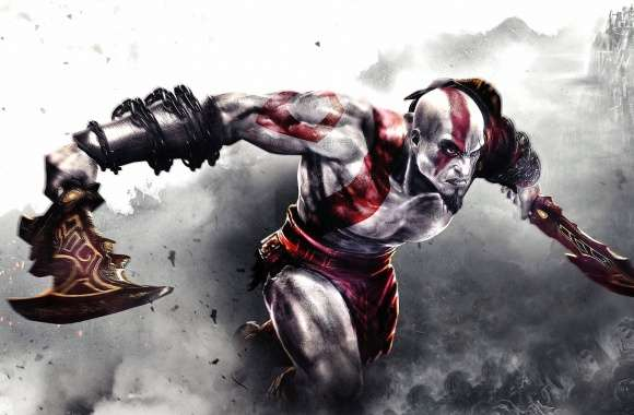 Kratos with a sword - God of War
