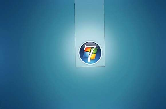 Light Windows 7 logo in a circle wallpapers hd quality