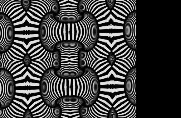 Trippy black white