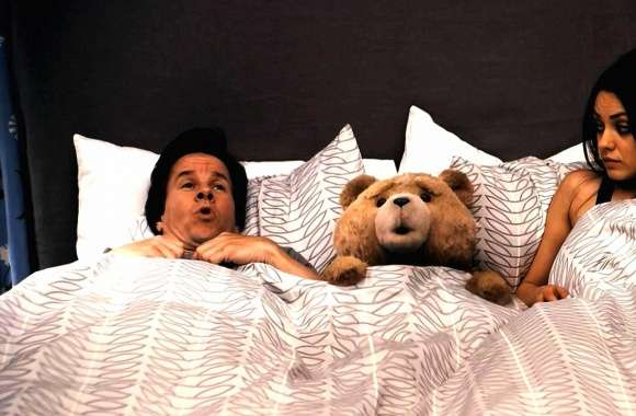 Weird bear in bed