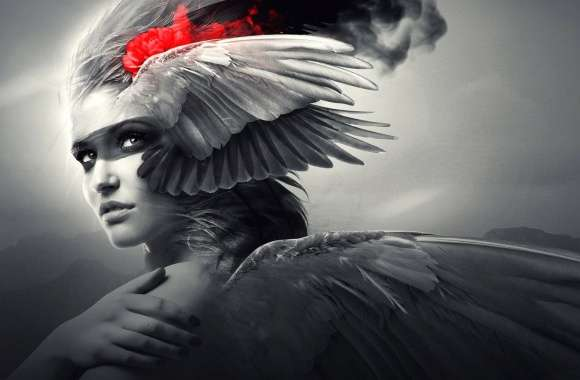 wings on face angel wallpapers hd quality