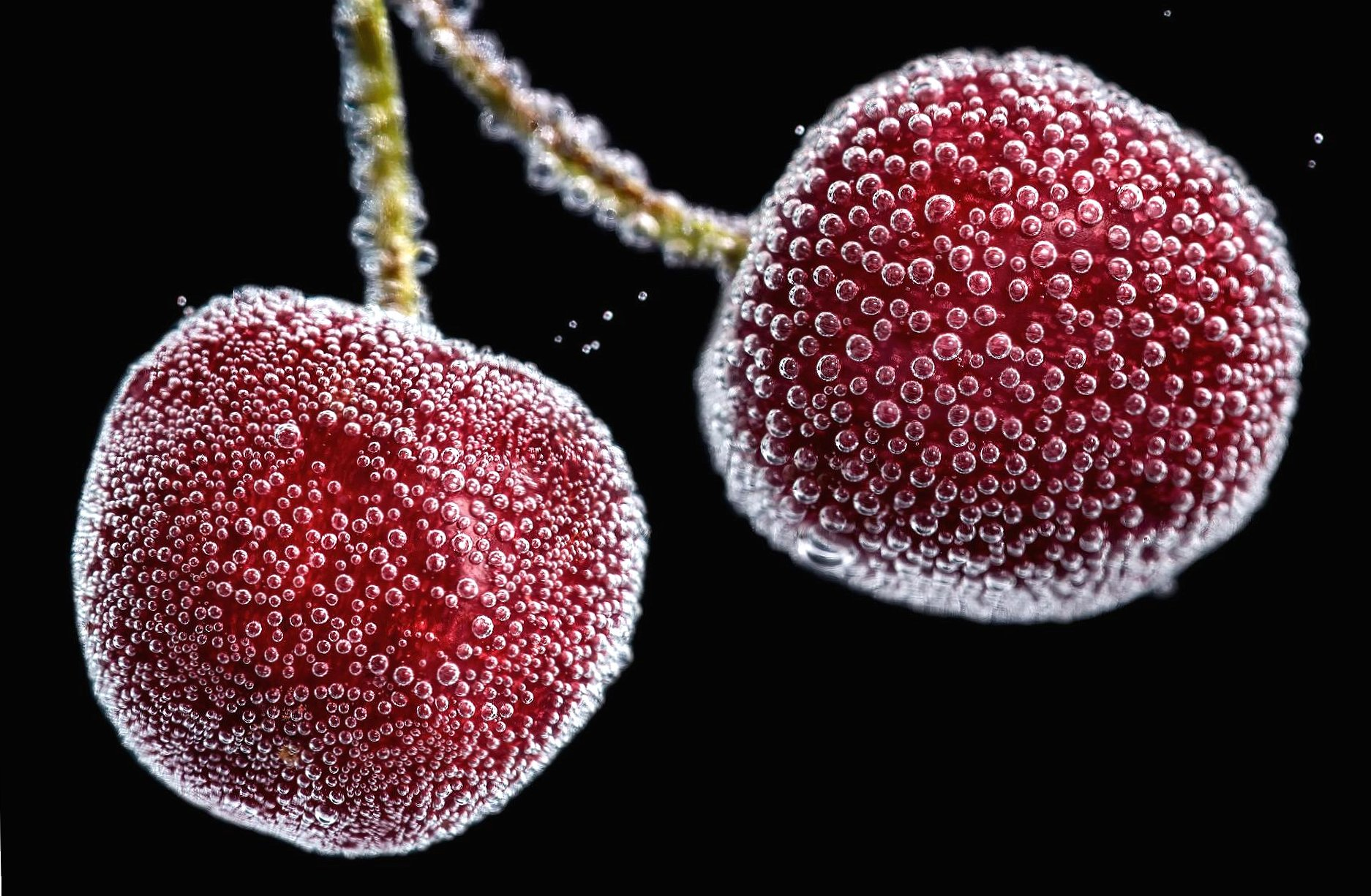 Aired underwater cherries wallpapers HD quality