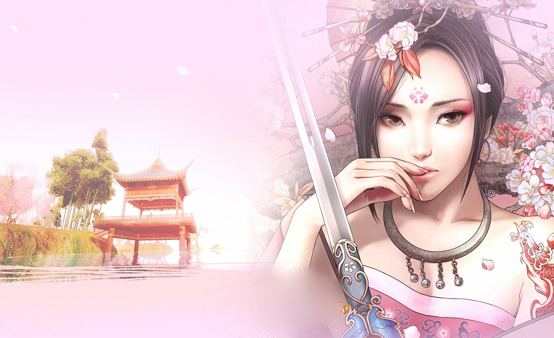 Amazing oriental girl fantasy wallpapers HD quality