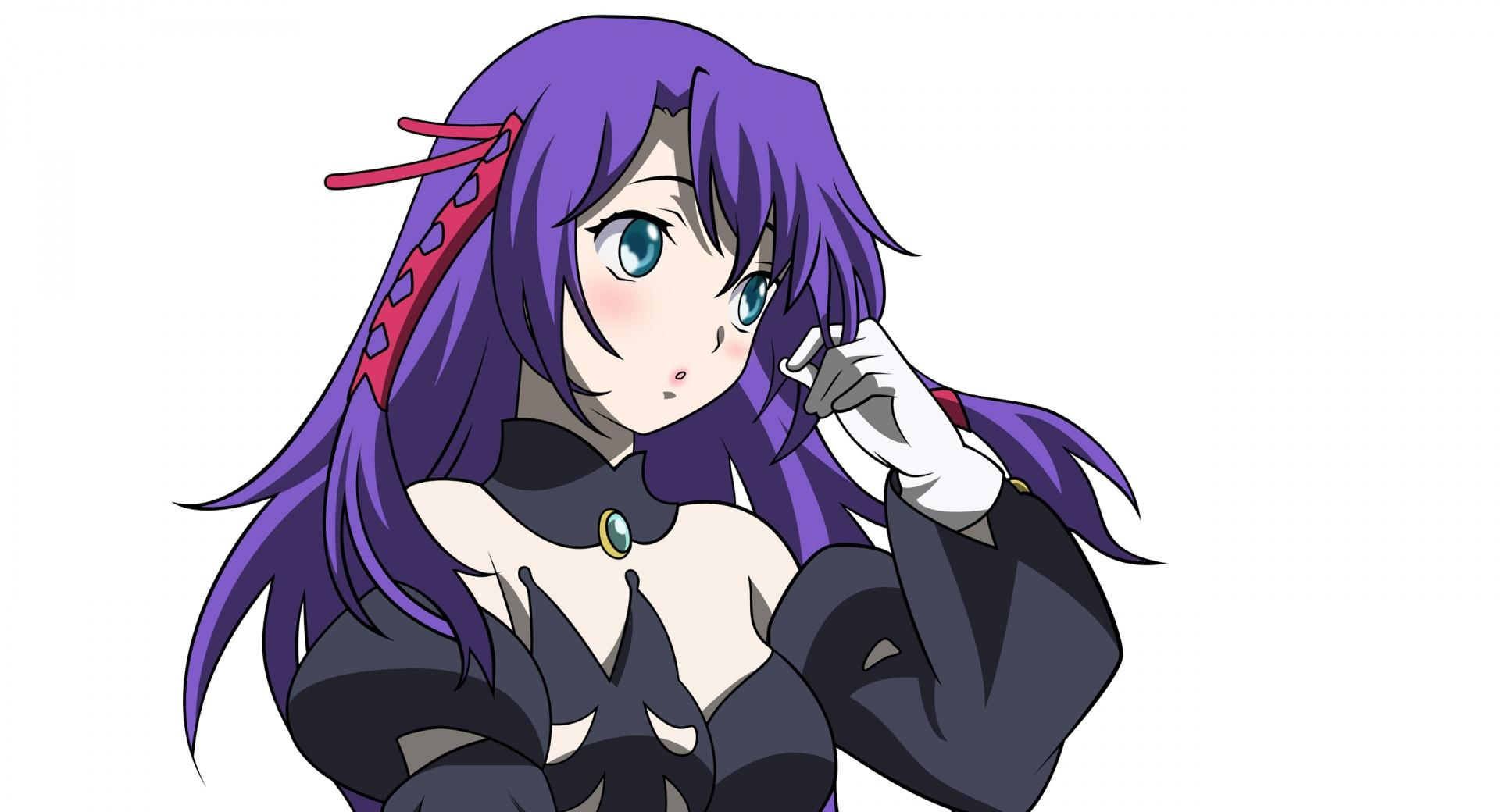 Anime Girl With Purple Hair wallpapers HD quality