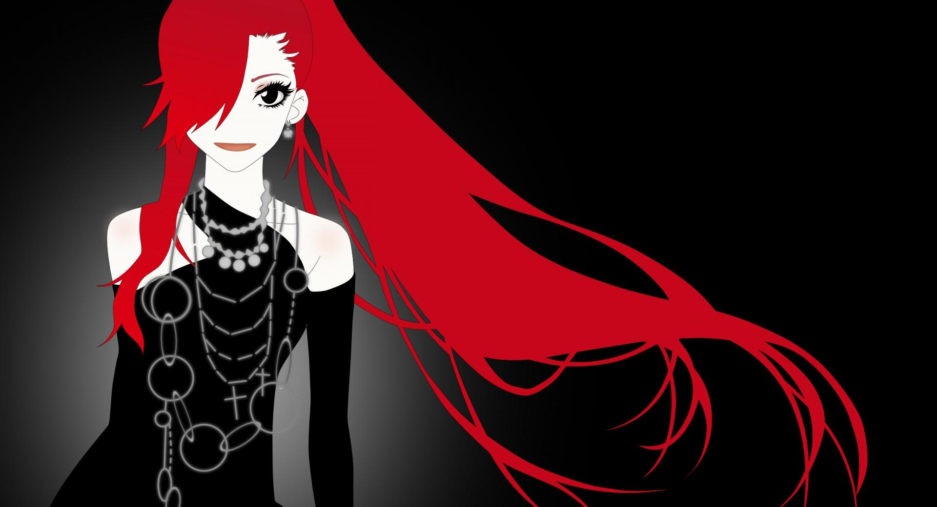 Anime Girl With Red Hair wallpapers HD quality