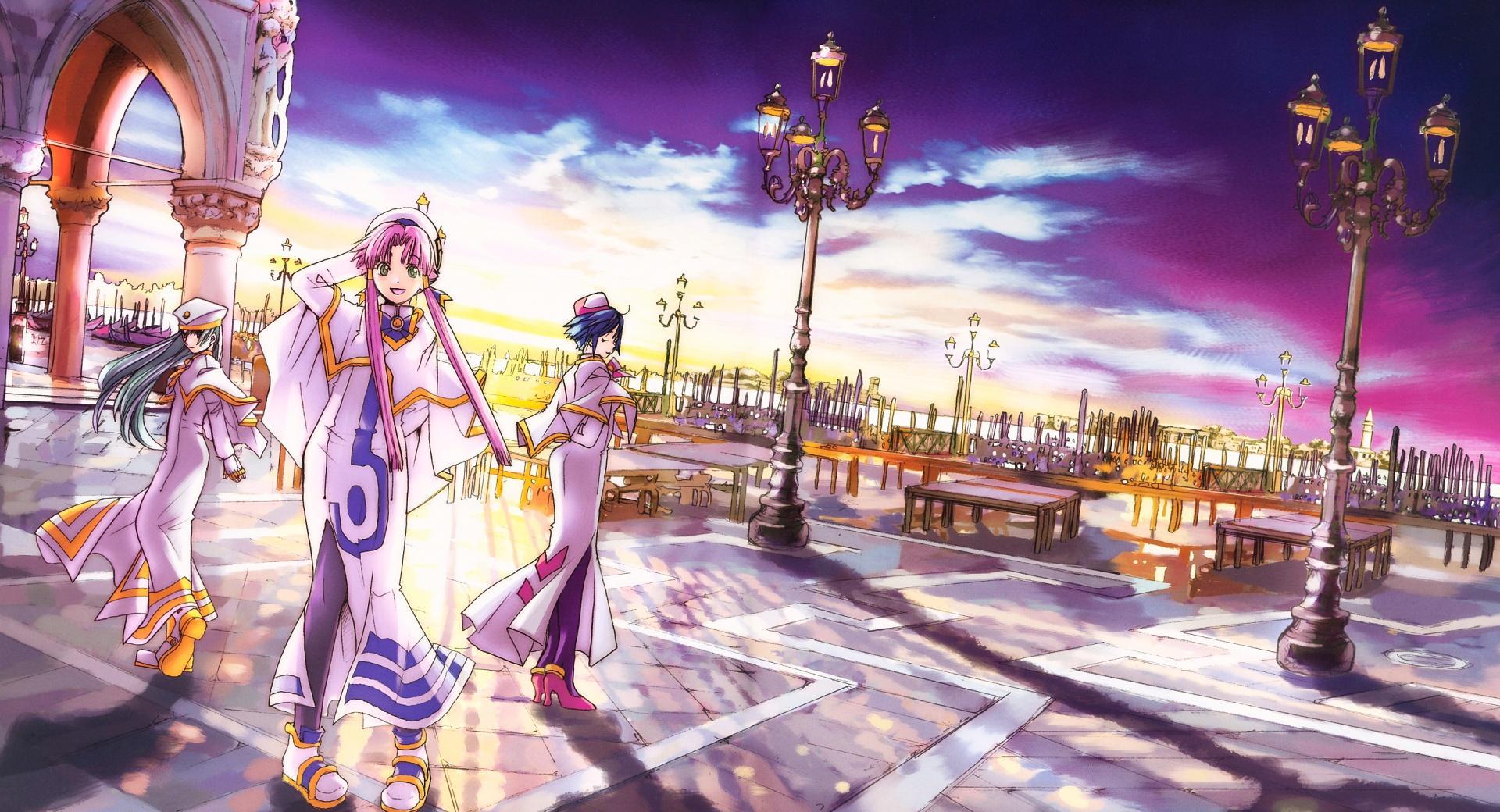Aria Fantasy Manga at 1024 x 1024 iPad size wallpapers HD quality