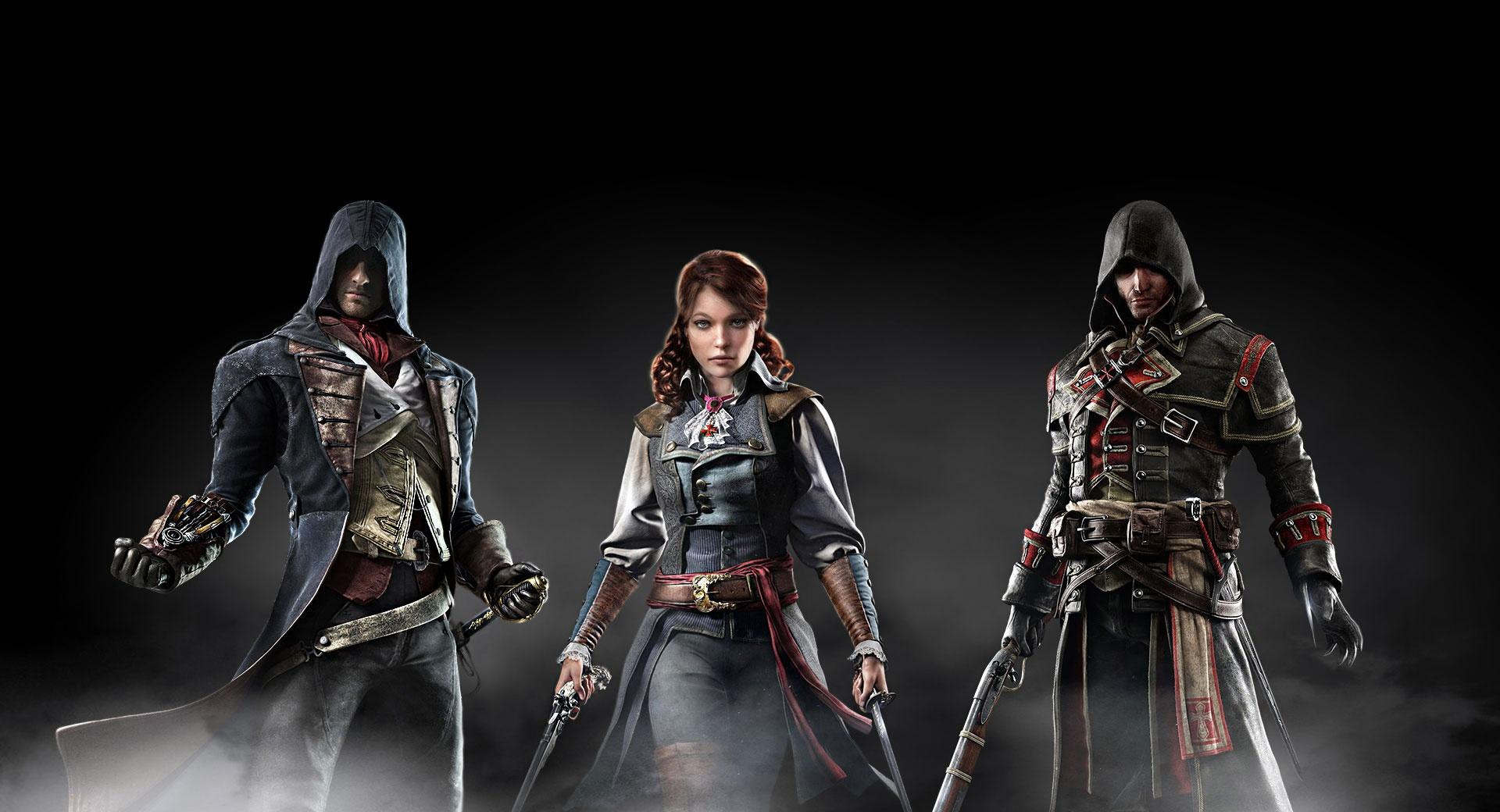 Assassins Creed Unity vs Assassins Creed Rogue wallpapers HD quality