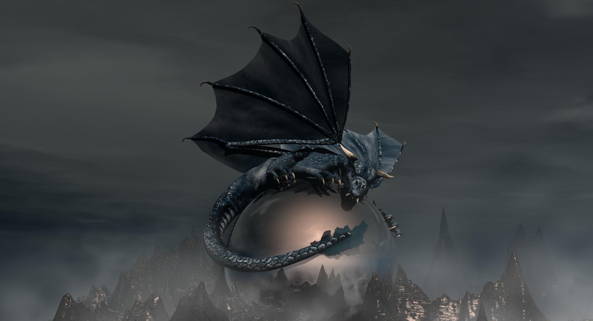Black Dragon at 1024 x 1024 iPad size wallpapers HD quality