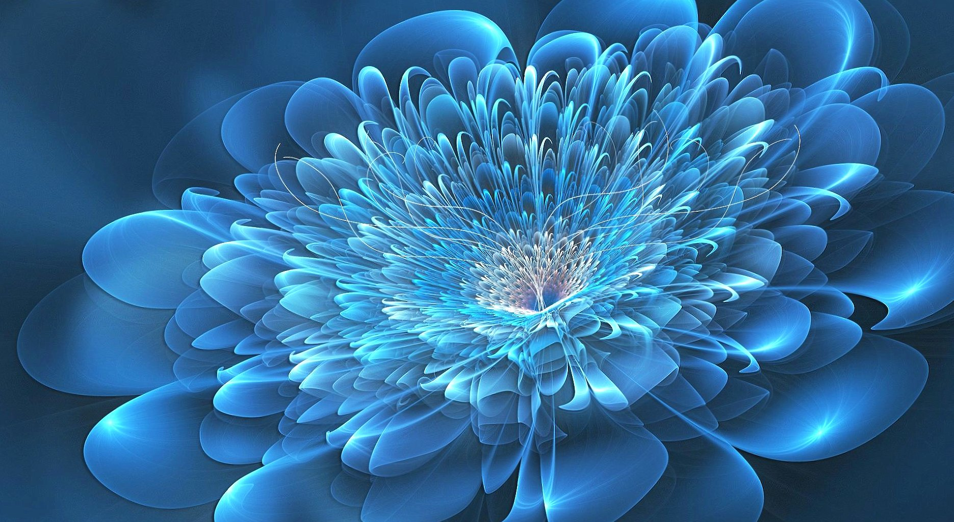 Blue flowers digital art at 640 x 1136 iPhone 5 size wallpapers HD quality