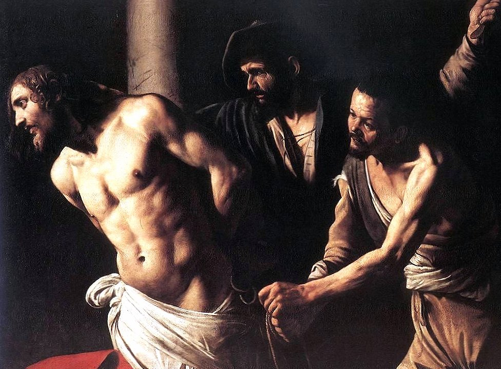 caravaggio christ at the column wallpapers HD quality