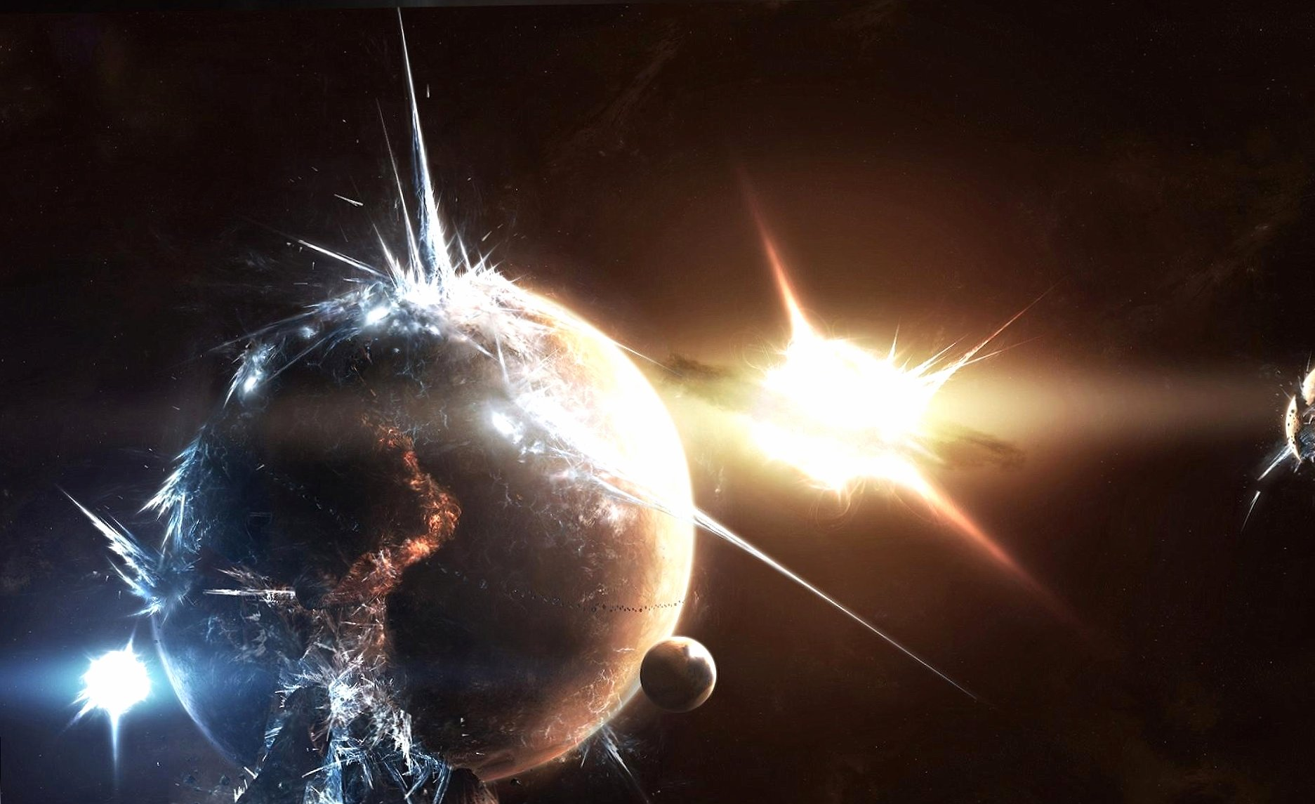 Catastrofic explosion of planet wallpapers HD quality