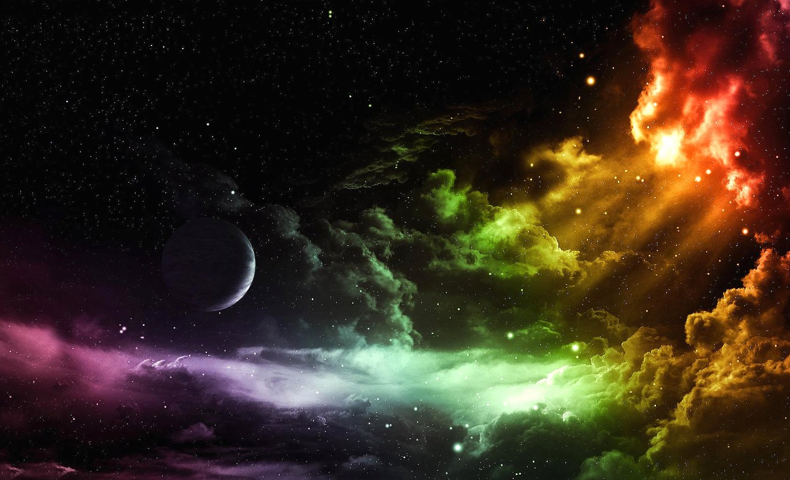 Clouds in space wallpapers HD quality
