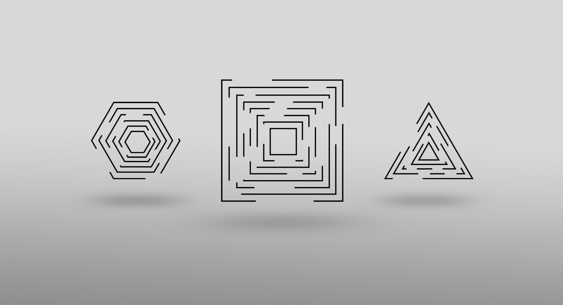 CUBE - TRIANGLE - HEXAGON wallpapers HD quality