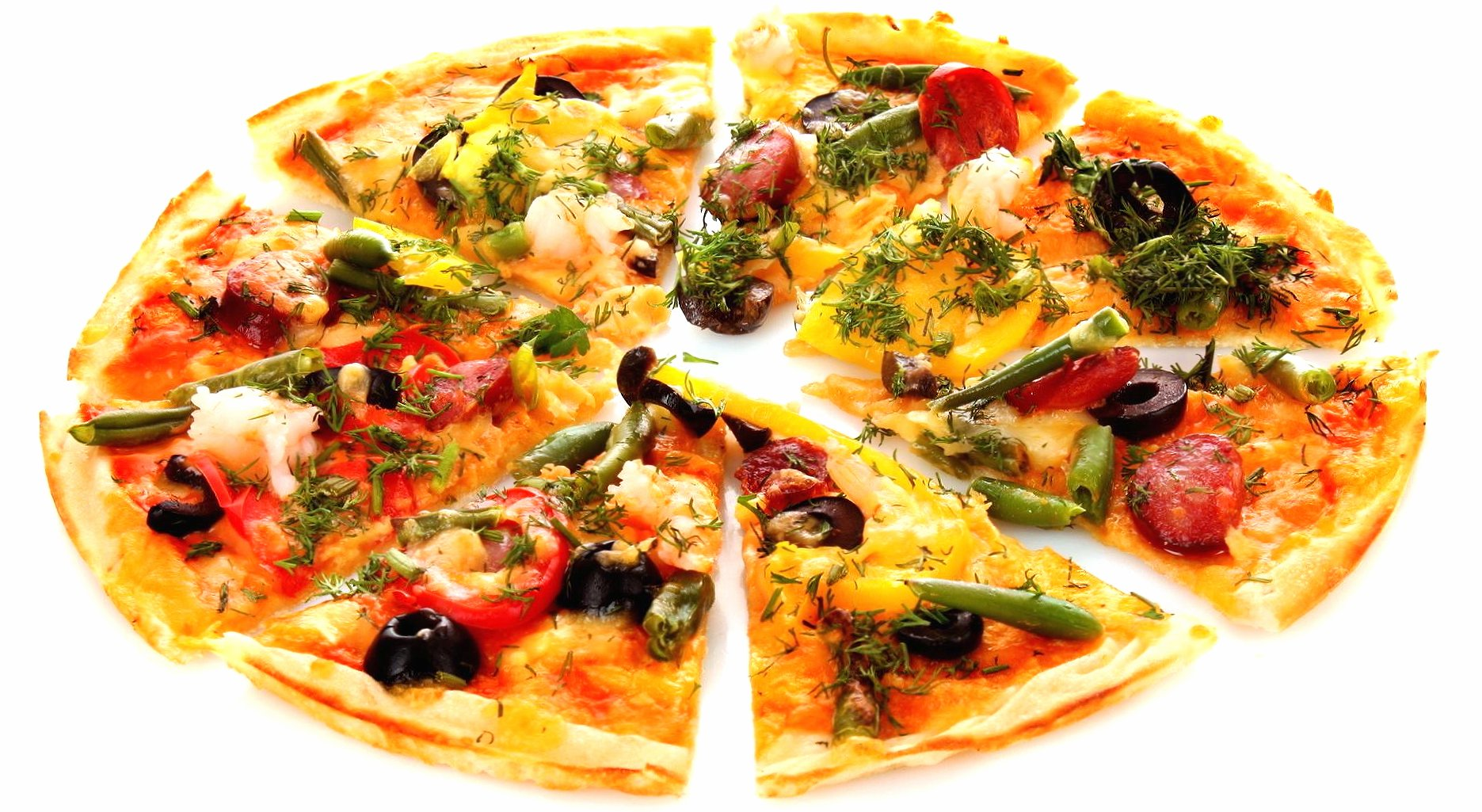 Cutted pizza wallpapers HD quality