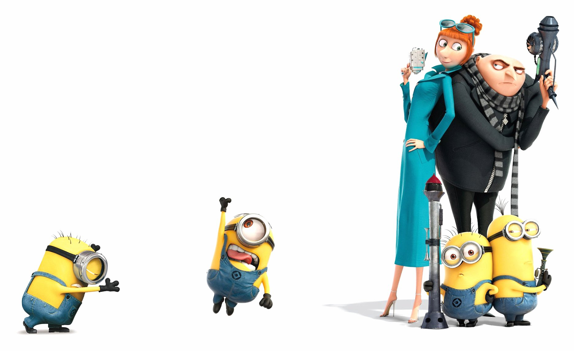 Despicable me 2 gru lucy minions wallpapers HD quality