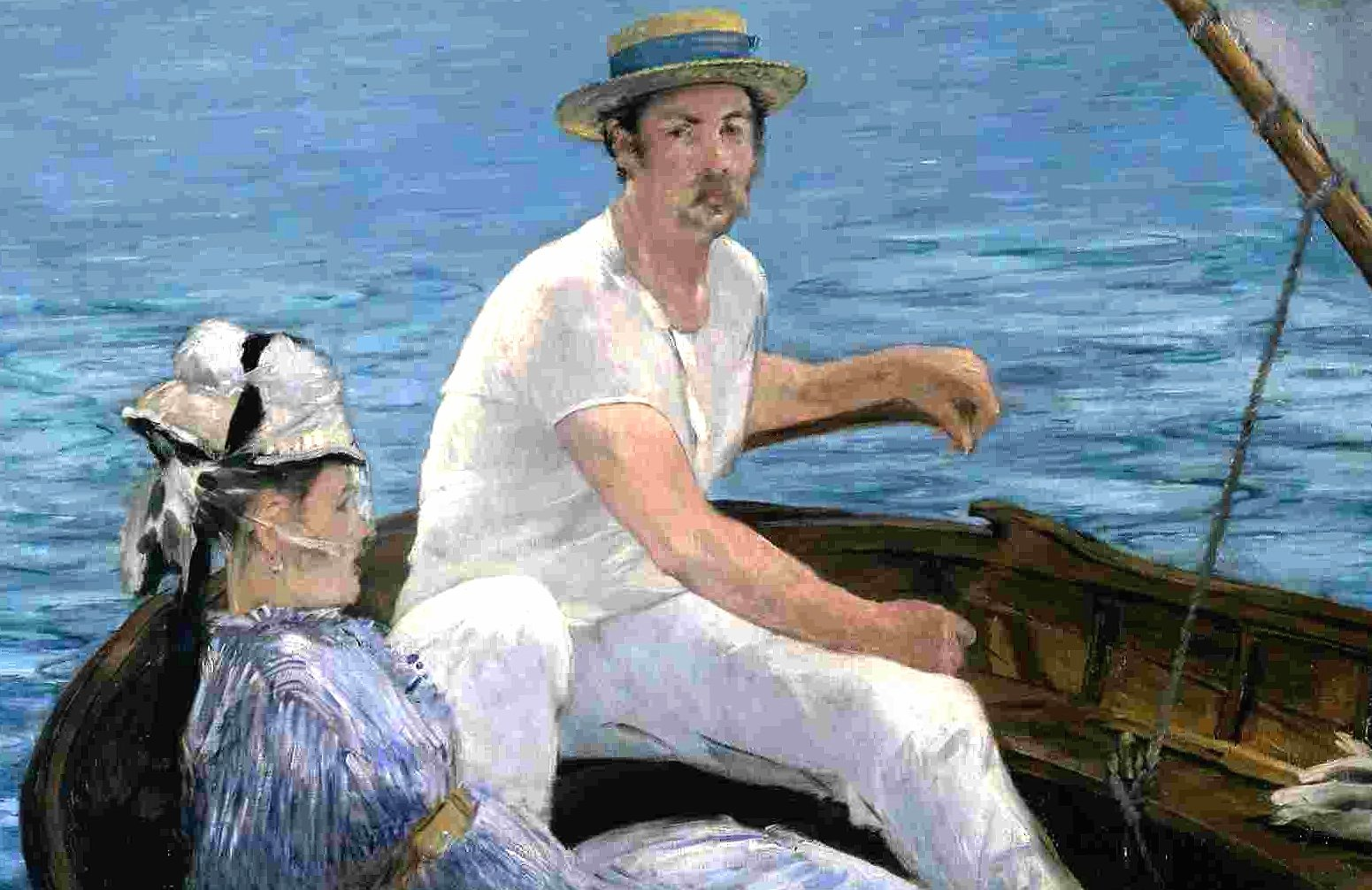 edouard manet on a boat wallpapers HD quality
