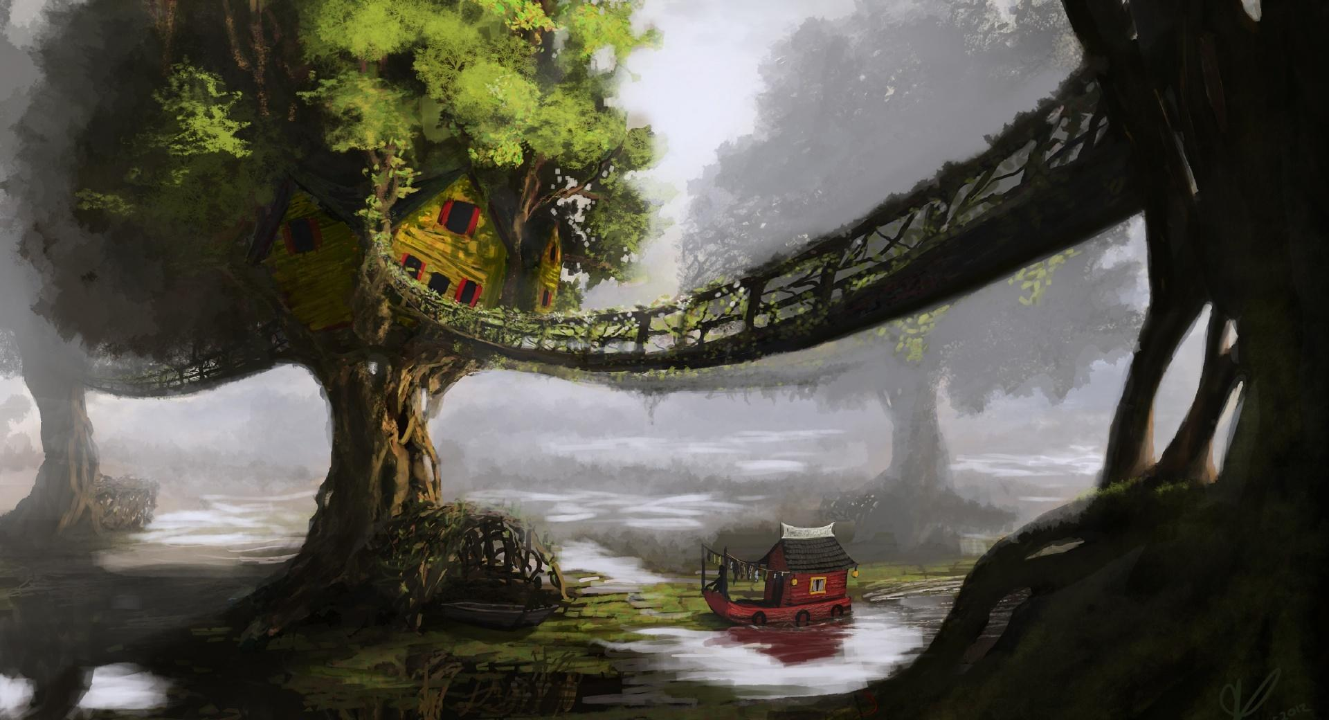 Fantasy Tree House wallpapers HD quality