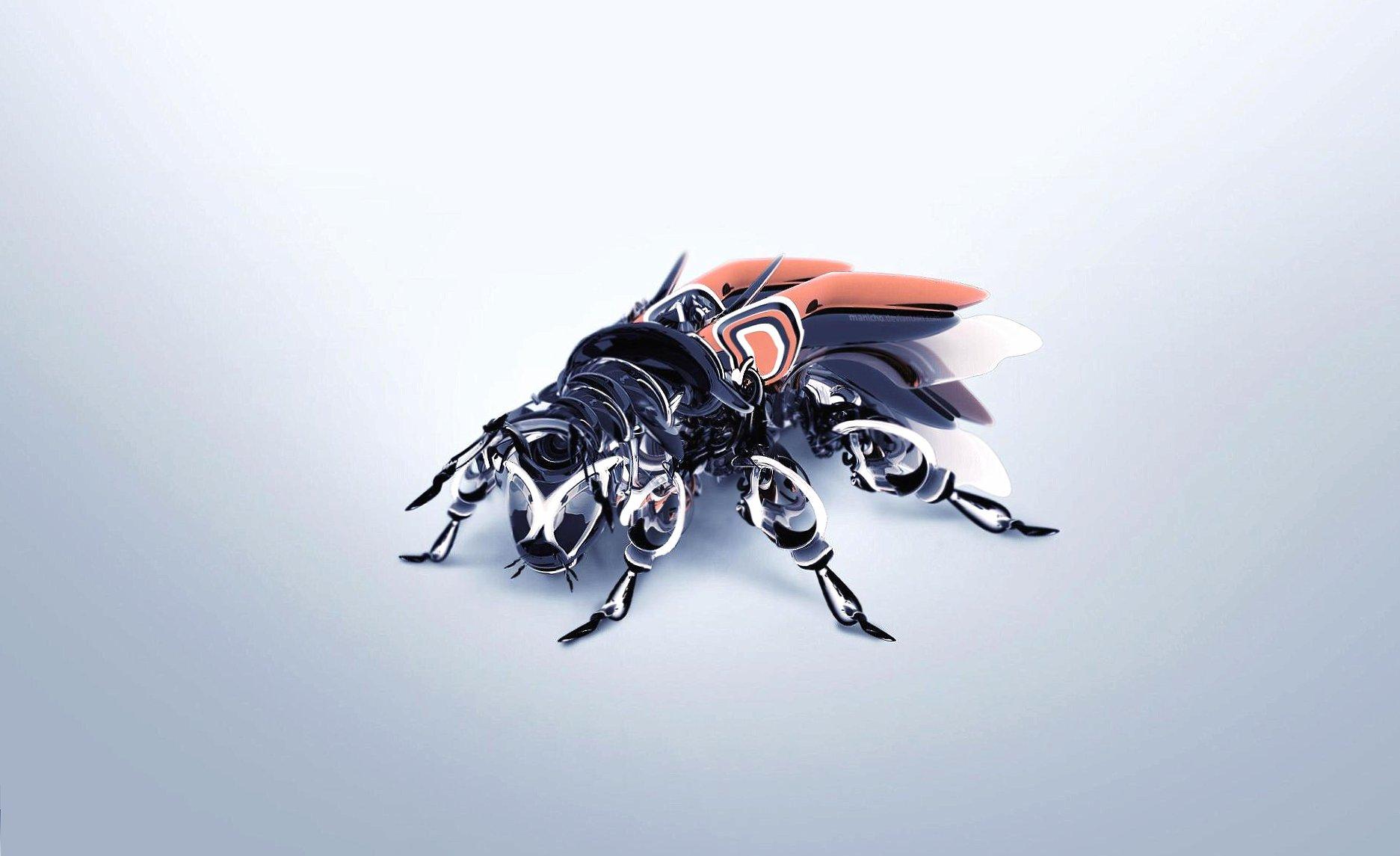 Fly robot 3d digital art wallpapers HD quality