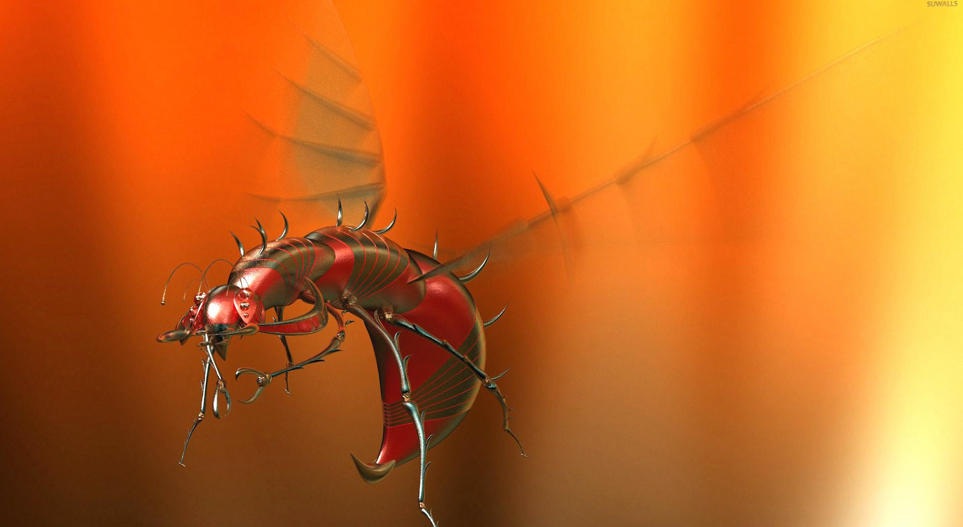 Flying robot insect wallpapers HD quality