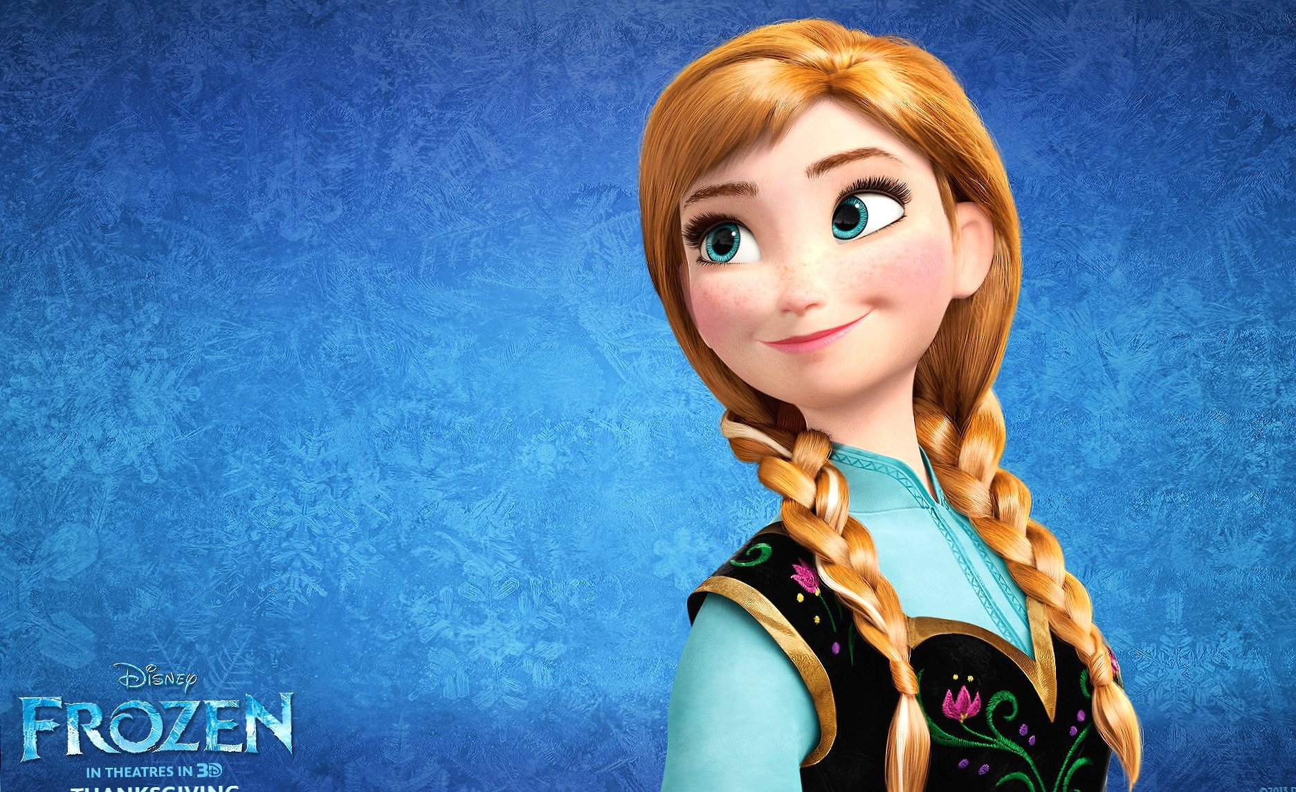 Frozen anna at 320 x 480 iPhone size wallpapers HD quality