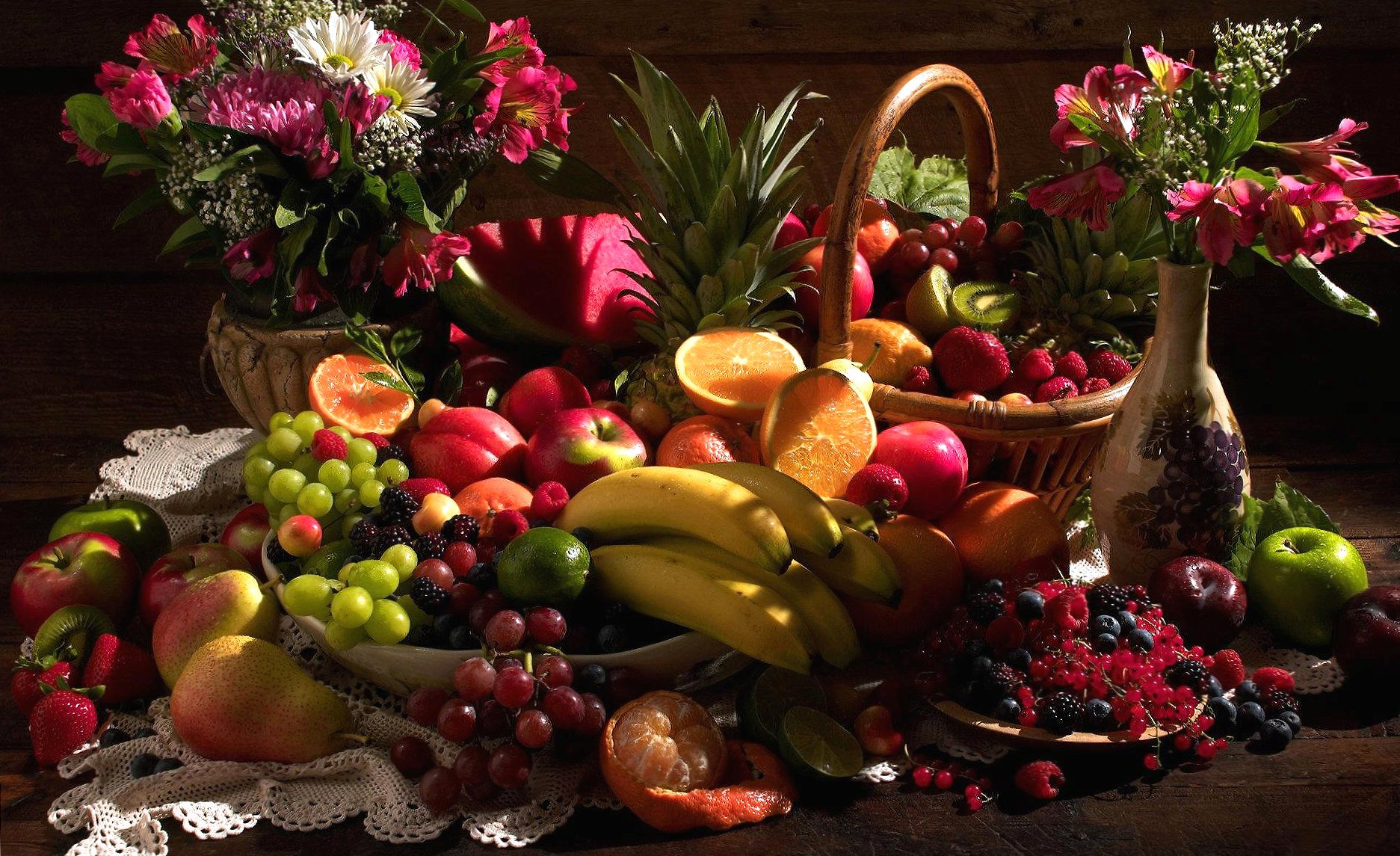 Fruit covered table wallpapers HD quality