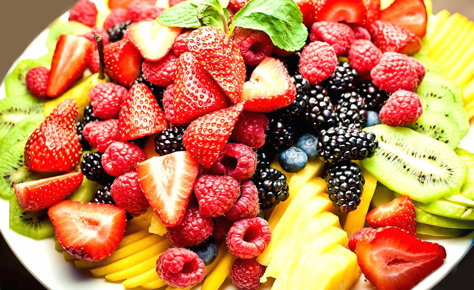 Fruit plate wallpapers HD quality
