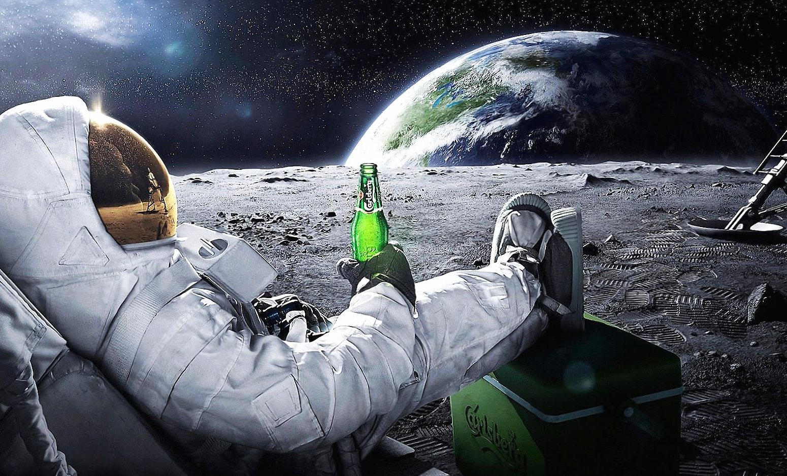 Funny a beer in the moon wallpapers HD quality