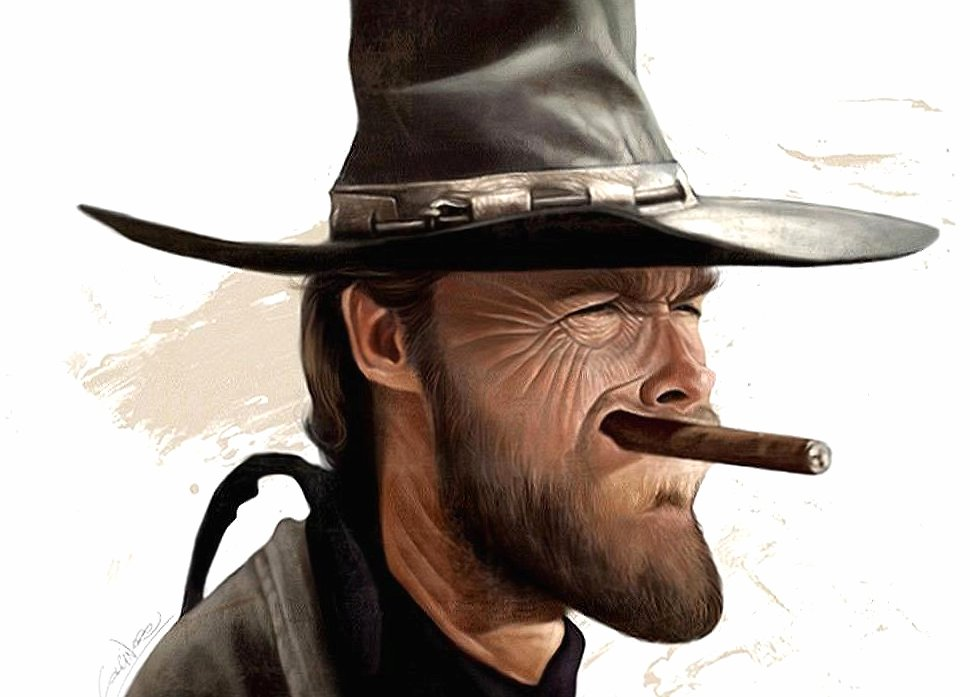 funny clint eastwood caricature wallpapers HD quality