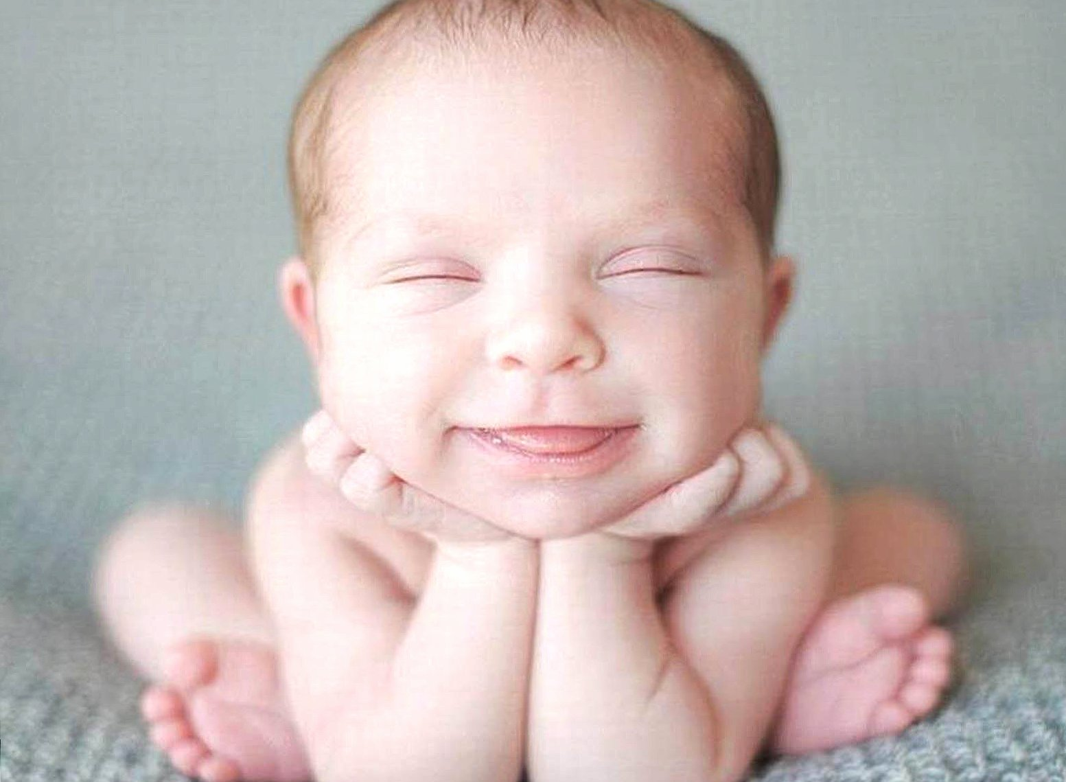 Funny little smiling baby wallpapers HD quality