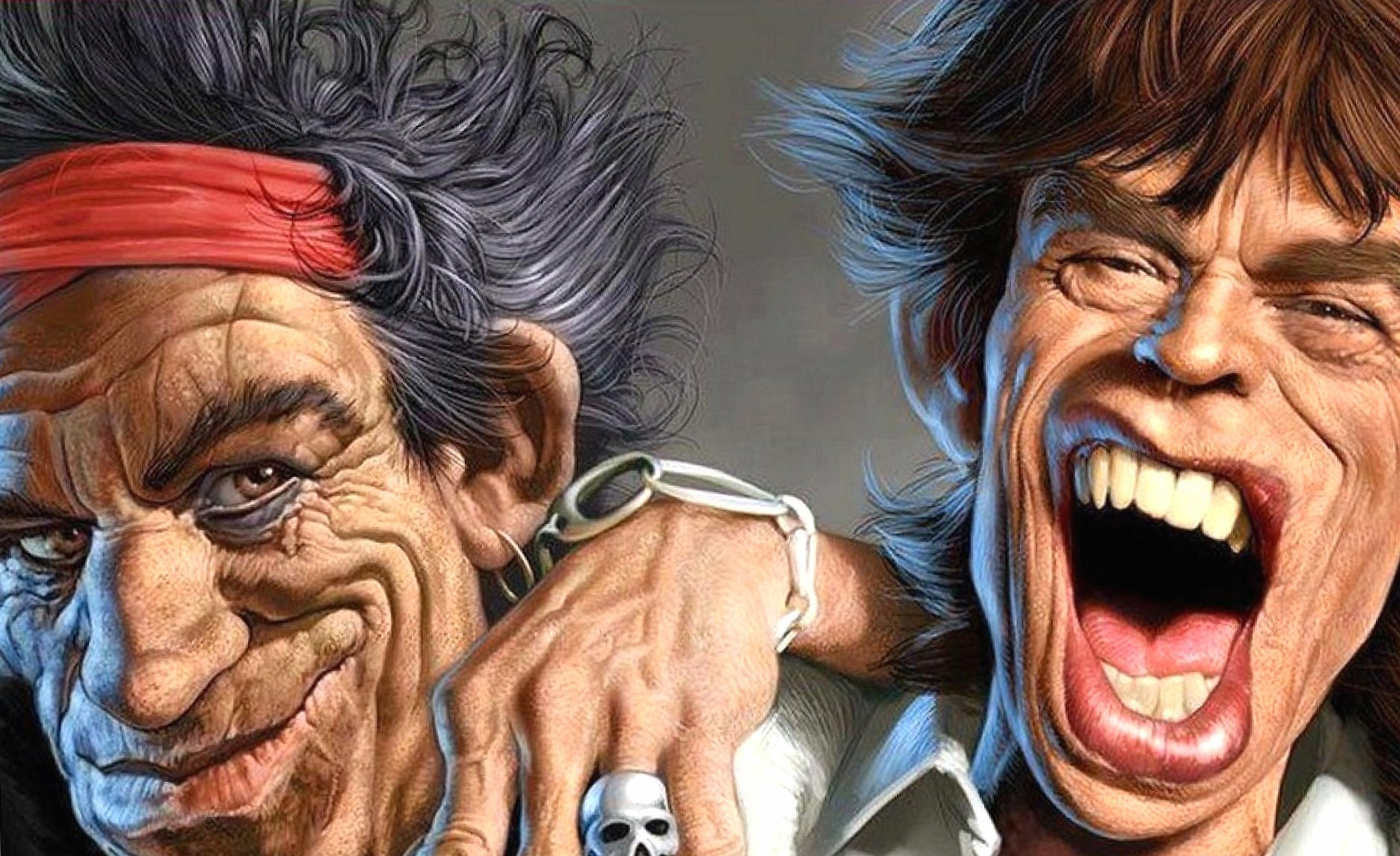 Funny rolling stones caricature mick jagger wallpapers HD quality