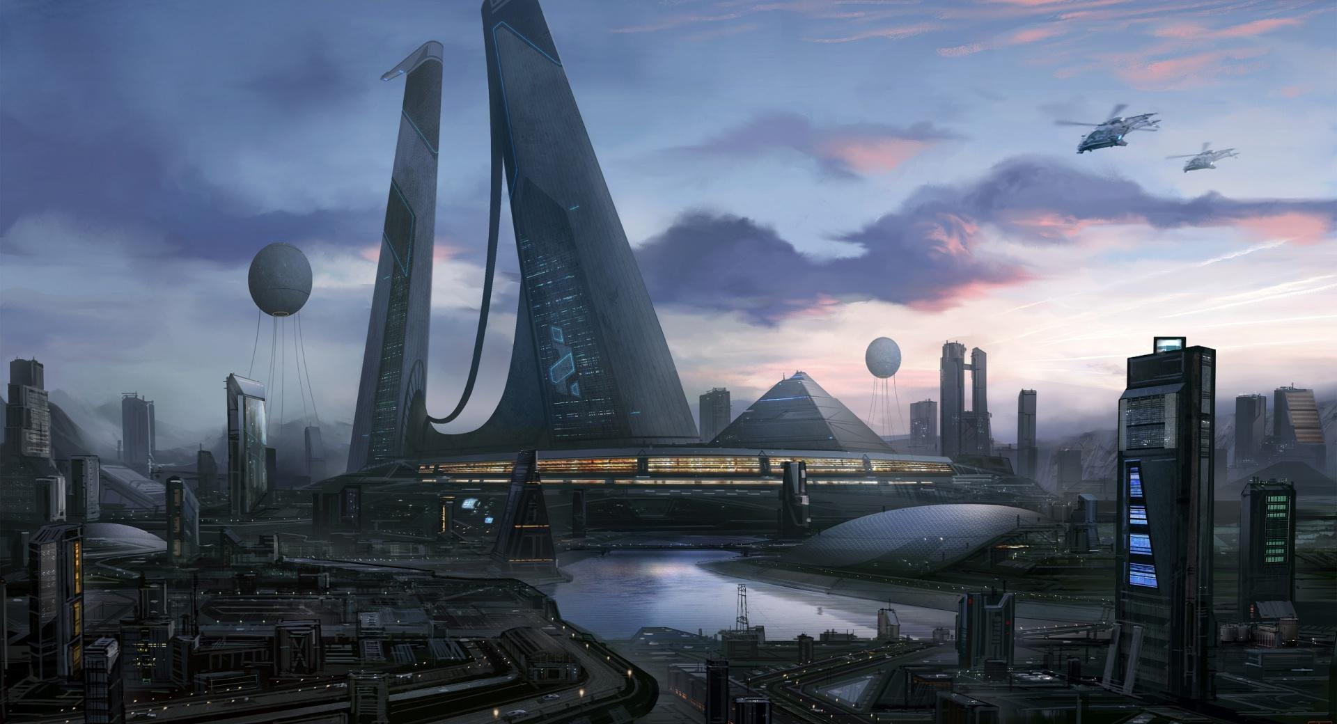 Futuristic City Art wallpapers HD quality