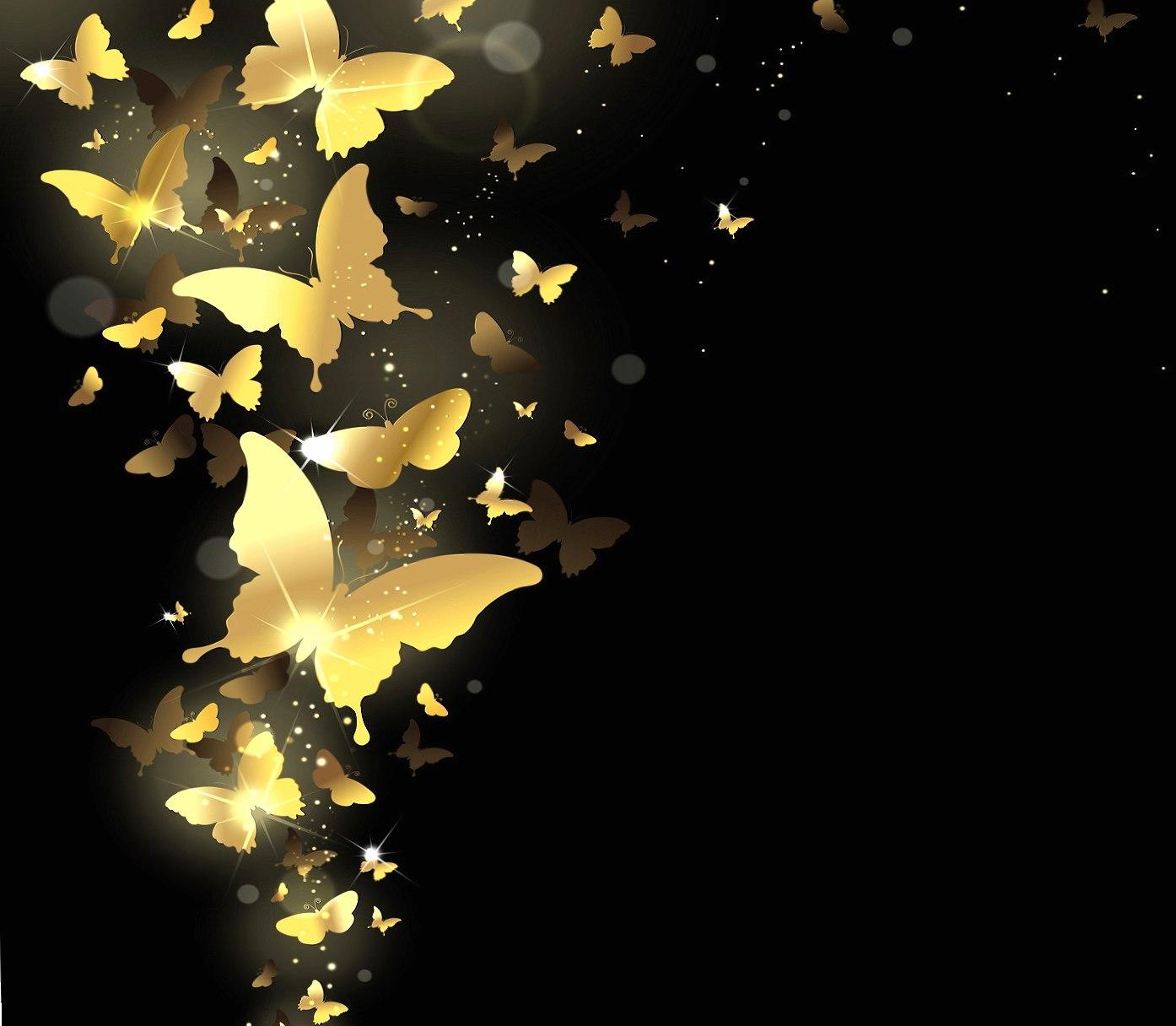 Golden Butterflies wallpapers HD quality