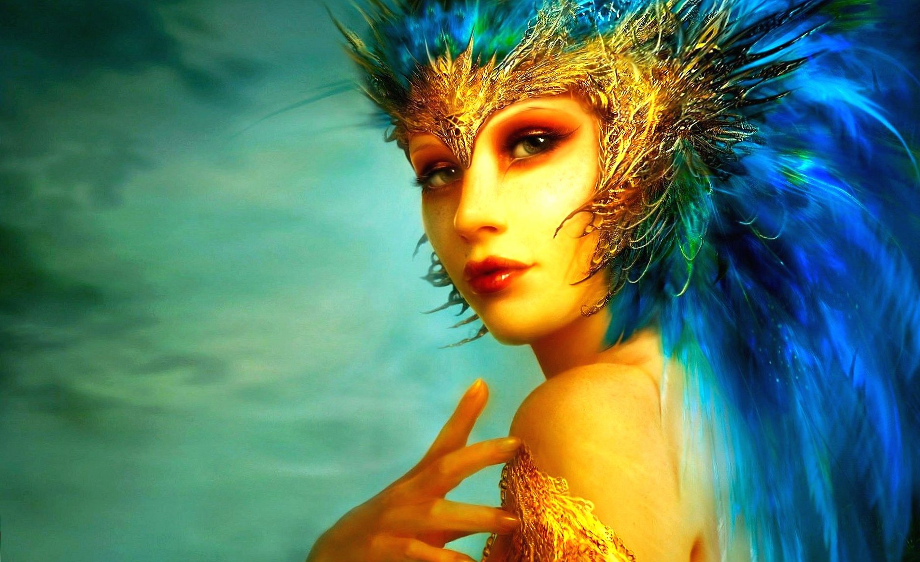 Golden fairy at 1600 x 1200 size wallpapers HD quality