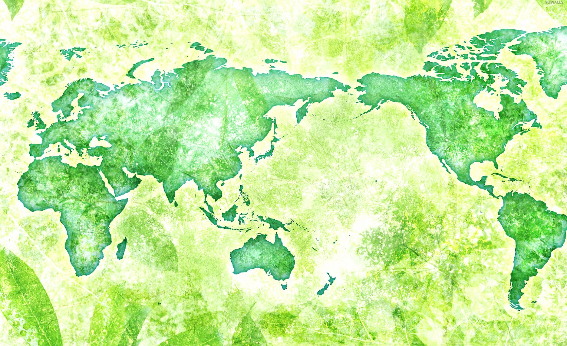 Green map of the world wallpapers HD quality