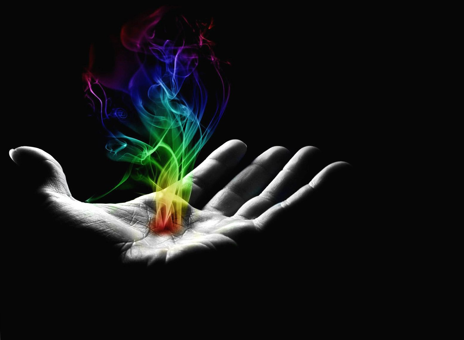 Hand with fire colorfull digital wallpapers HD quality