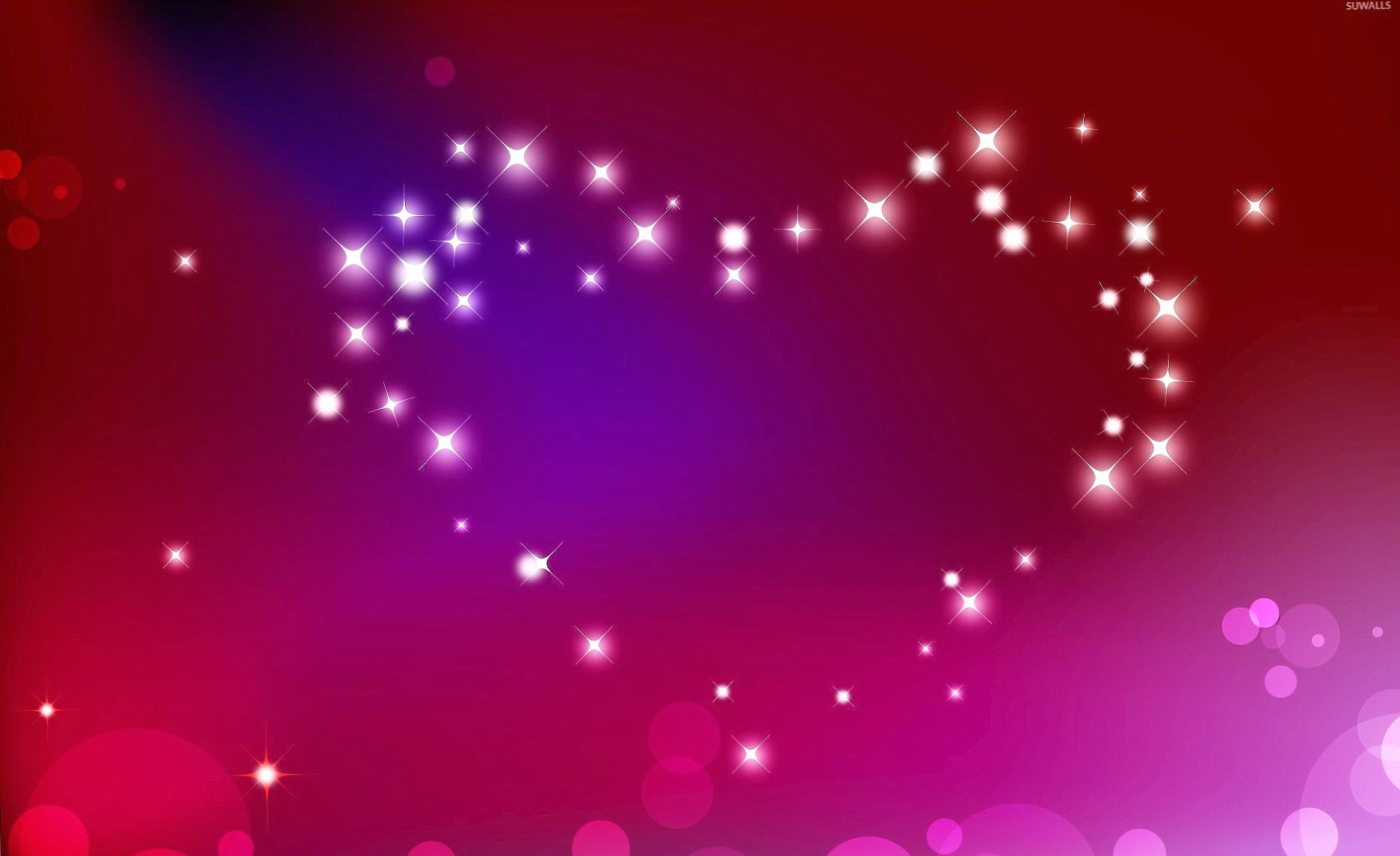 Heart made of sparkles wallpapers HD quality