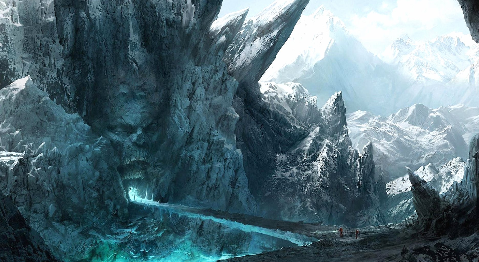 Hell mountains digital art wallpapers HD quality