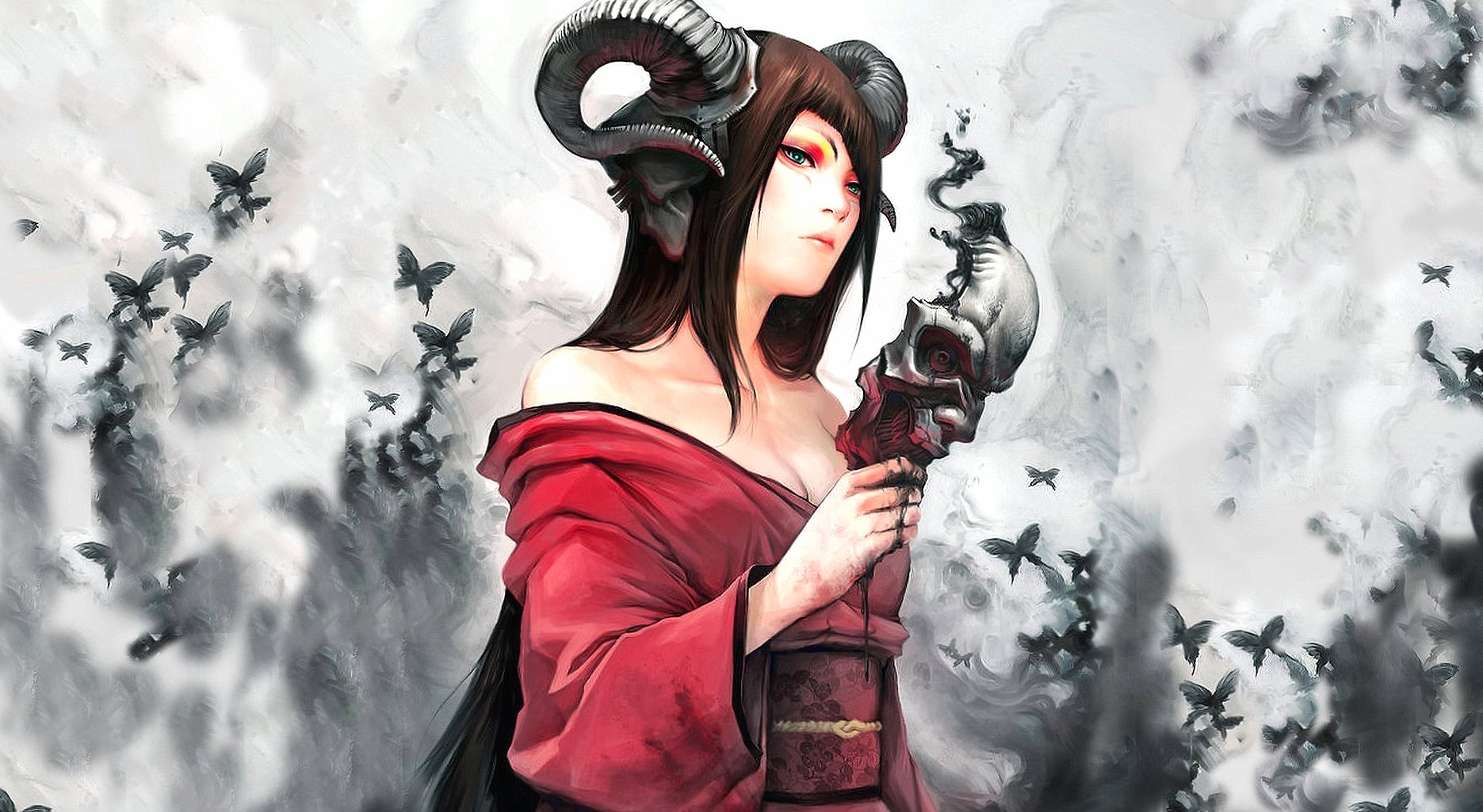 horned girl wallpapers HD quality