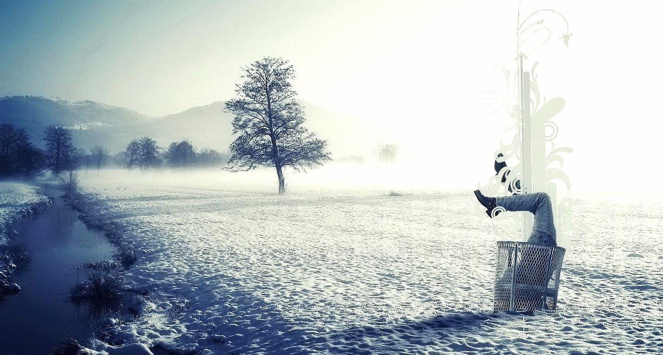 Human winter abstract digital wallpapers HD quality
