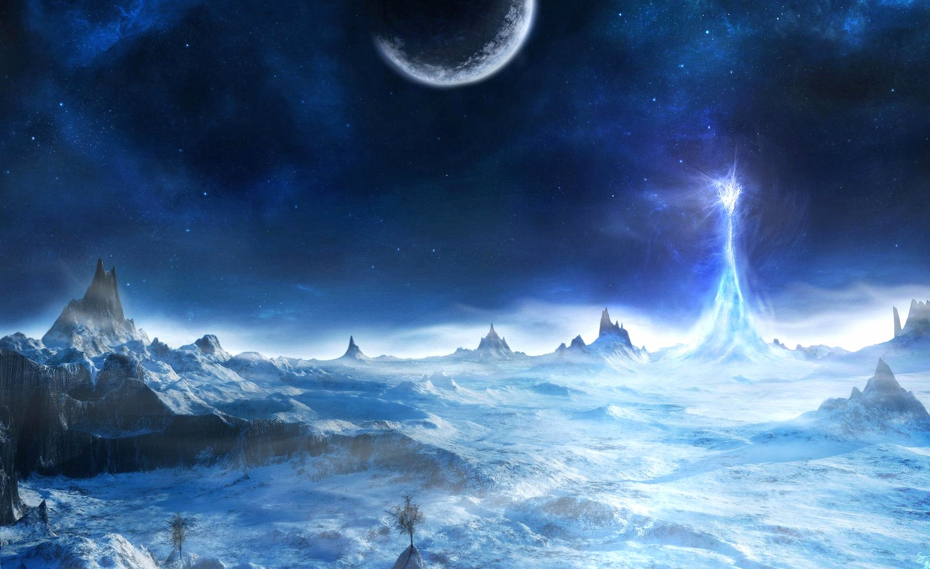 Iced planet wallpapers HD quality