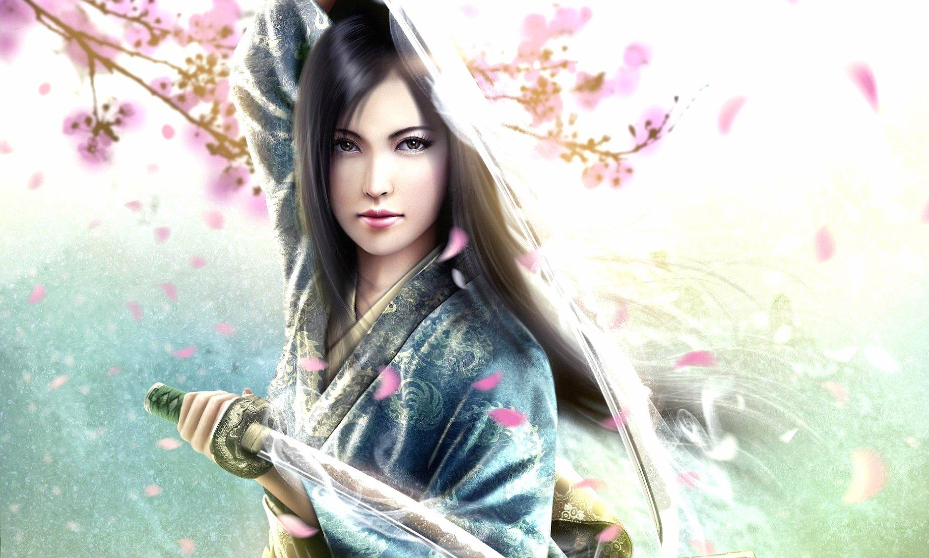 Kimono samurai girl wallpapers HD quality