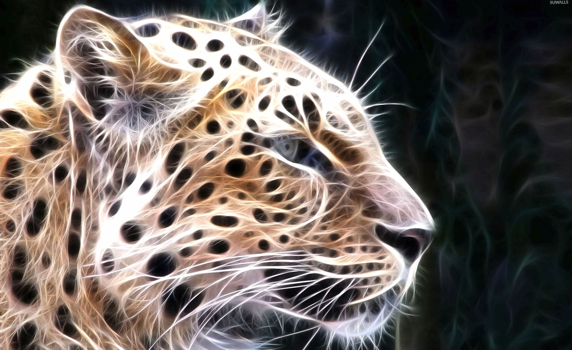 Light leopard sketch wallpapers HD quality