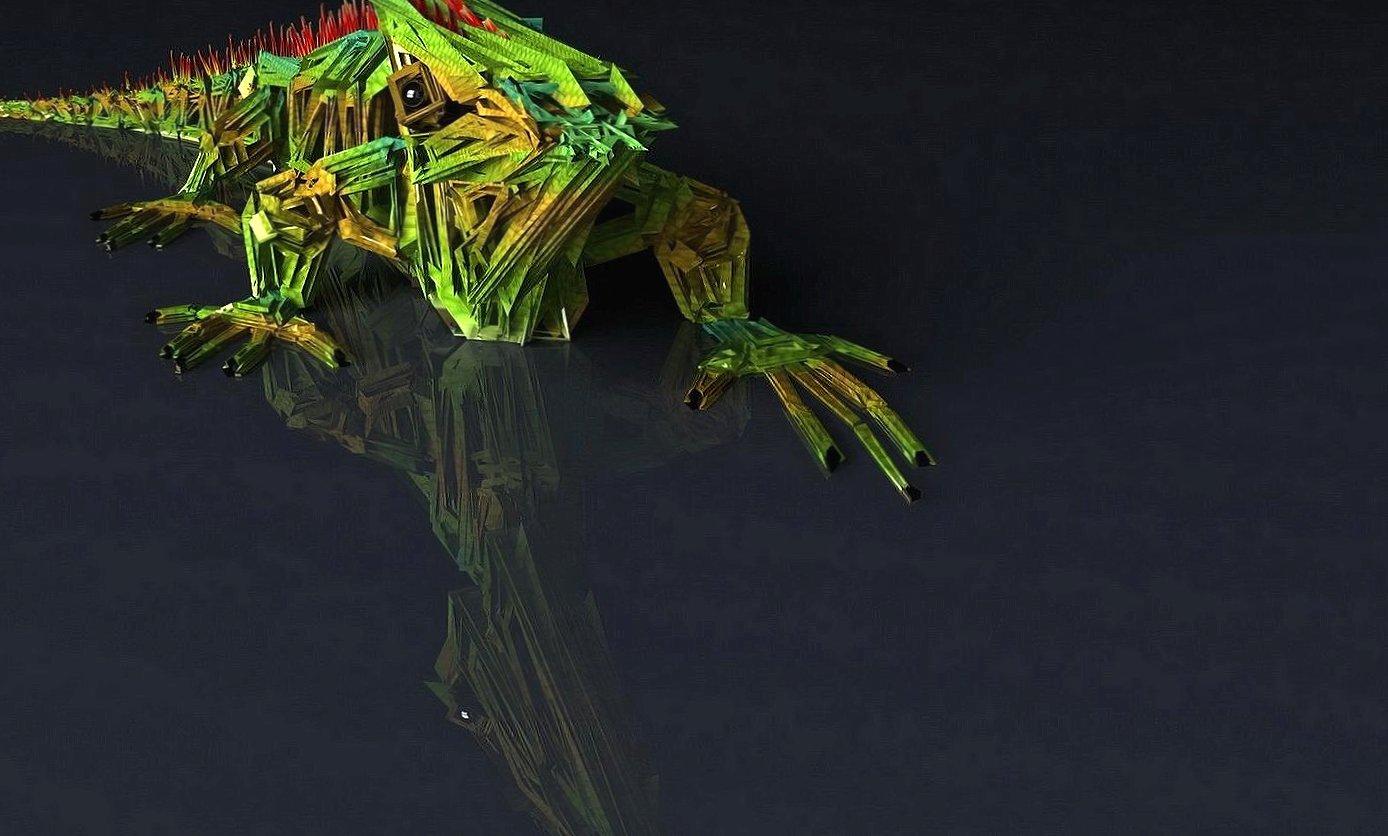 Lizard 3d digital wallpapers HD quality