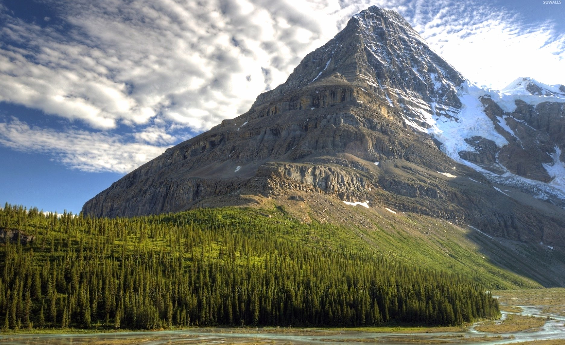 Majestic mountain peak rising to the sky wallpapers HD quality