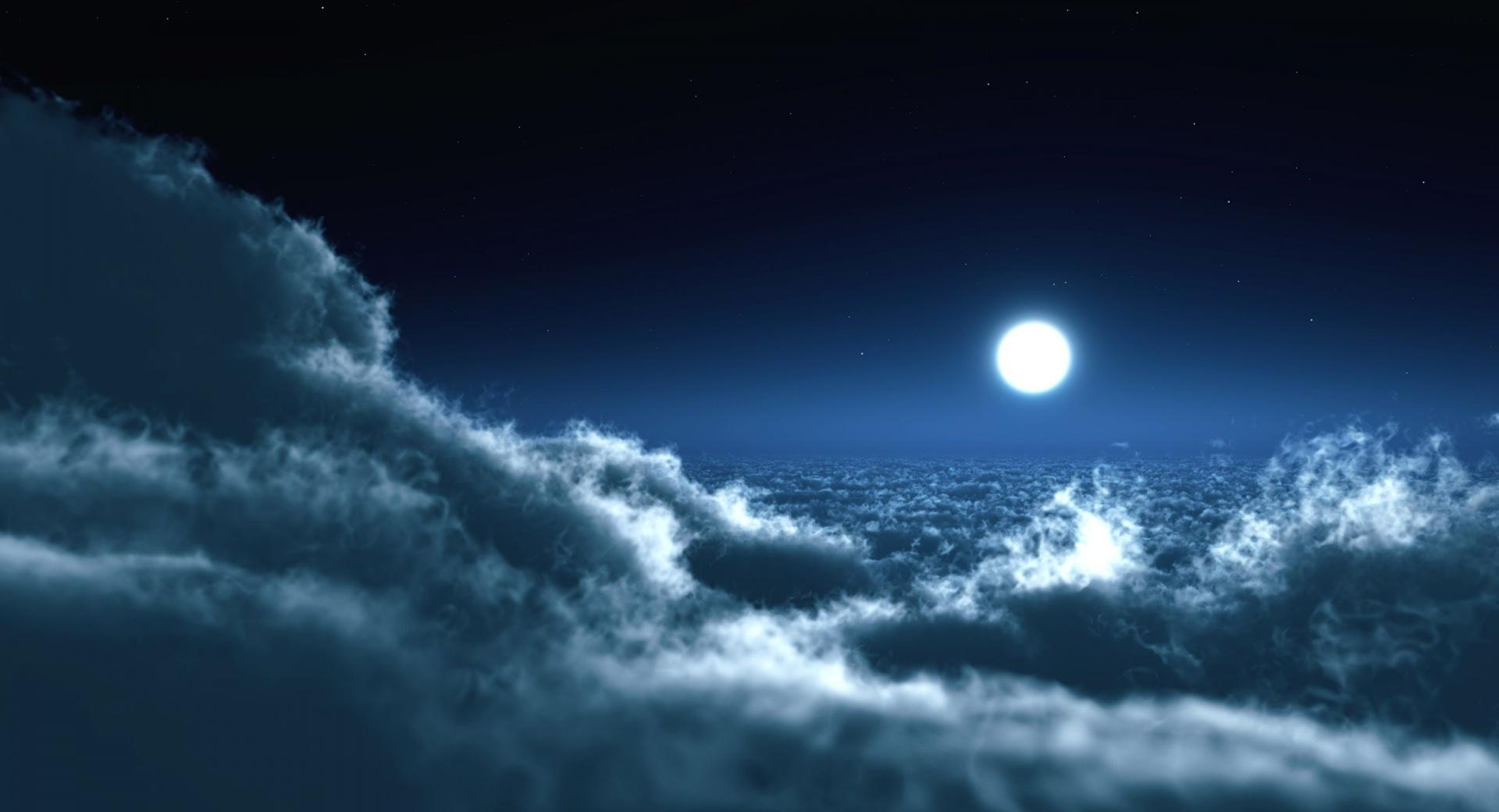 Moon Above Clouds wallpapers HD quality